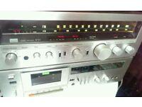 Sansui R-50 receiver tuner amp / D-150M Cassette Tape Deck