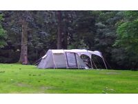 Outwell deluxe Minnesota 4, 2m high, family tent (4 berth + dinning room) plus a front canopy.