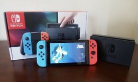 Nintendo Switch + Games and accessory.