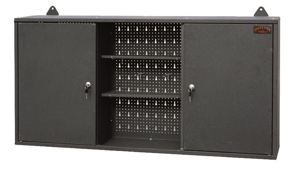 large wall mount hanging tool box garage storage cupboard metal chest cabinet. Black Bedroom Furniture Sets. Home Design Ideas