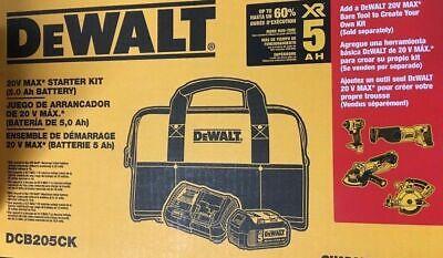 Dewalt Dcb205Ck 5 Amp Battery Bag And Charger Kit-  BRAND NEW