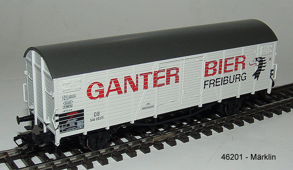 "Märklin 46201 - Insider-wagen 2004: Covered Goods Wagon ""Ganter ' Nip"