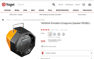 Yamaha Portable Speaker Balga Stirling Area Preview