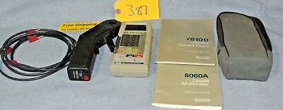 Fluke Current Probe True Rms Digital Multimeter Y1800 Dcac 8060a