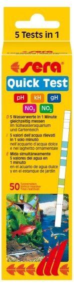 SERA QUICK TEST. ANALYSE DE DIE 5 WERTE MAS IMPORTANTES VON DER WASSER.