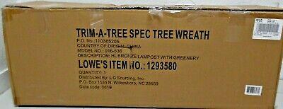 Holiday Living 6-ft Pre-Lit Cashmere Pine Slim Artificial Christmas Tree wreath Pine Slim Christmas Tree
