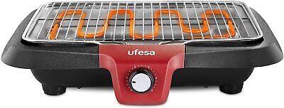 Ufesa BB7640 Barbacoa Eléctrica 2300W Superficie de Cocción 38x24cm AutoApagado