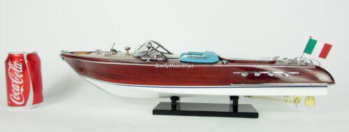 "Riva Aquarama 20"" Handcrafted Wooden Model Boat"