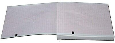 Mortara Eli 150 Ekg Machine Paper With Z-fold And Red Grid 200 Sheets 5 Packs