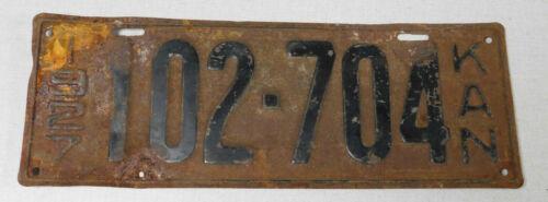 1927 Kansas passenger car license plate