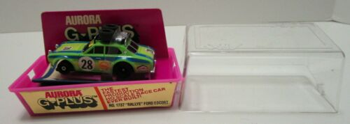 VINTAGE AURORA G-PLUS No.1737 RALLYE FORD ESCORT SLOT CAR **NEW IN MINT CASE**
