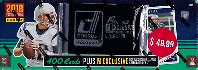 2018 Donruss Football sealed complete set 400 NFL cards & rookie threads green (Football Set)