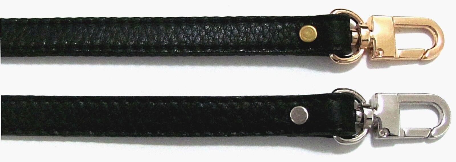 """1/2"""" Wide Leather Shoulder Bag Strap With FRENCH Designer St"""