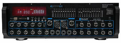 Technical Pro MM2000BT Powered Bluetooth Karaoke Mixer Amplifier Amp SD, (Karaoke Mixer Amp)