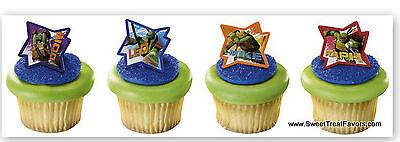 Ninja Turtles Cake Decorations (NINJA TURTLES CAKE CupCake Cake Topper 12 18 24 Favors Decoration Kit RALPH)