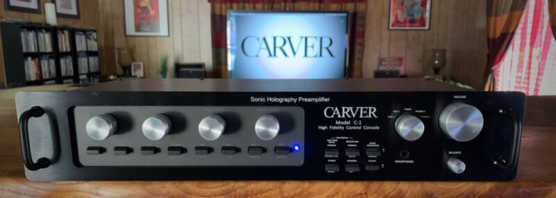 Carver C-1 Preamplifier w/Bill D. mod, upgraded face and knobs (will ship*)