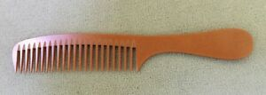 Prof. Detangler Hand Made Bone Comb  seamless comb by hairsense #2066S hair comb