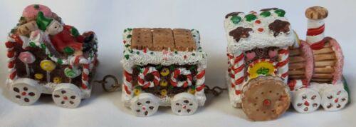 "Gingerbread Candy Train 6"" Ceramic Christmas Ornament Figure Decoration"