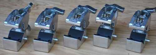 five aluminum Manfrotto Bogen 035 Super Clamps, no signs of use or damage  4