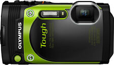 Olympus - TG-870 16.0-Megapixel Waterproof Digital Camera - Green