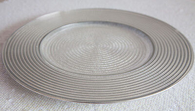 SPIRAL DESIGN GLASS CHARGER PLATE GOLD/SILVER WEDDINGS EVENTS PARTY CHRISTMAS - Design Charger Plate