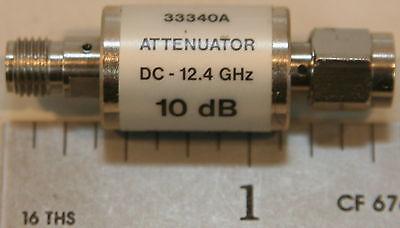 Agilenthp 33340a Coaxial Attenuator 10 Db Dc-12.4 Ghz