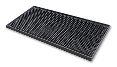 Black Rubber Drip Mat Runner 15cm x 30cm Service Catering Beer Drink Bar Pub