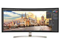 "LG 38UC99-W 38"" Ultrawide 21:9 Monitor 3840x1600 Resolution"