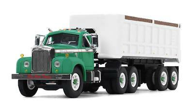 2018 First Gear 1:64 *GREEN* MACK B-61 Semi Truck w/22' DUMP TRAILER *NIB*