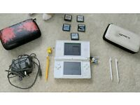 Nintendo DS lite white bundle with 5 games.