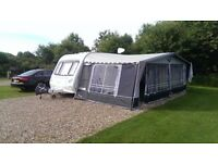 Compass Rallye 634 top of the range 2008 twin axle touring caravan with EVERYTHING!! VGC!