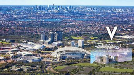 Brand new 2 bed+study available next to ANZ Stadium-Olympic park