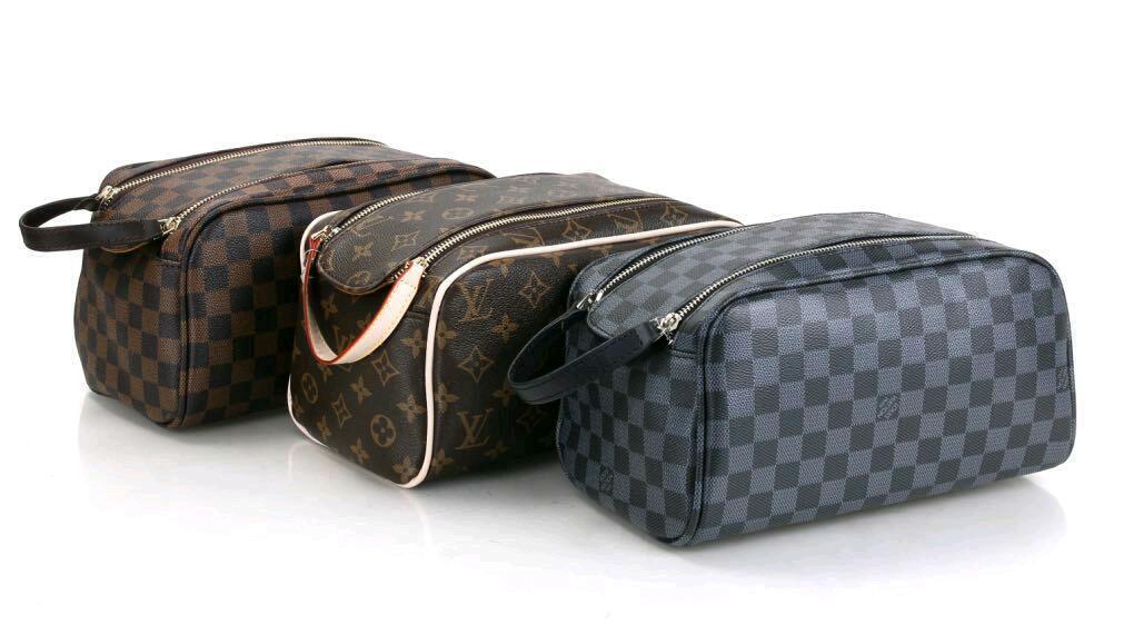 Louis Vuitton Wash Bag Travel Cosmetics Make Up Case In