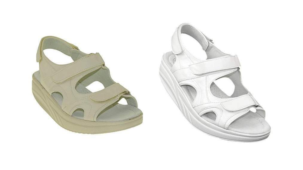 Sandalen Fitnessschuhe SPORT Schuhe INNEN LEDER Gesundheitsschuhe Damen 025