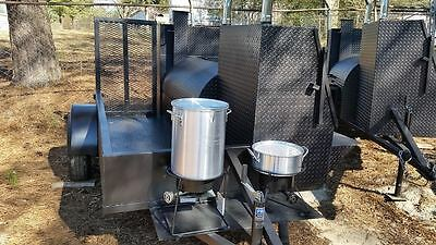 Start a BBQ Restaurant Catering Business Smoker 36 Grill Trailer Food Cart Truck, used for sale  Braselton