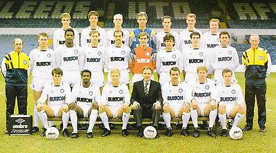 LEEDS UNITED FOOTBALL TEAM PHOTO 1988-89 SEASON