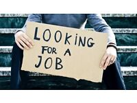 Looking For Work!! Will Take Any Job!!!!
