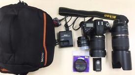 Nikon D7000 with 3 lens, polar filter, remote and bag