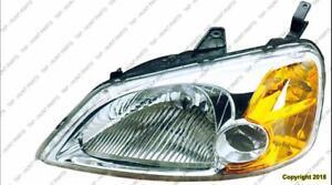 Head Lamp Driver Side [Sedan 2001-2003] [Hybrid 2003] Honda Civic