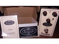 TORNADO - ROTHWELL Overdrive Guitar FX Pedal - Perfect working conditions