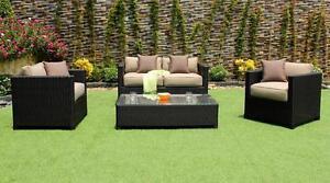 Patio Outdoor Patio Wicker Sunbrella Conversation Sofa Set by Cieux