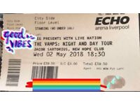 2 x The Vamps Tickets - 2nd May - Livepiol Echo Arena