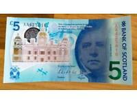 Bank of Scotland £5 with AA