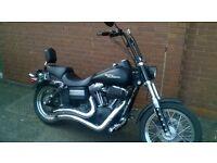 custom Harley Davidson streetbob,black