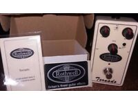 ROTHWELL TORNADO Overdrive Guitar FX Pedal. Perfect working condition. Original box