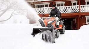 "Husqvarna Garden Tractor and 42"" Snowblower Attachment Package @ OttawaSnowBlowers.com"