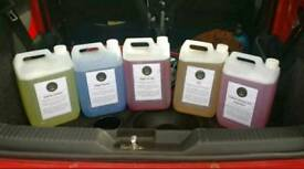 Concentrated car cleaning products