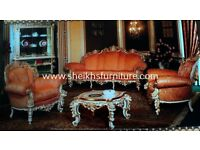 hand made wooden carved sofas for living and drying room