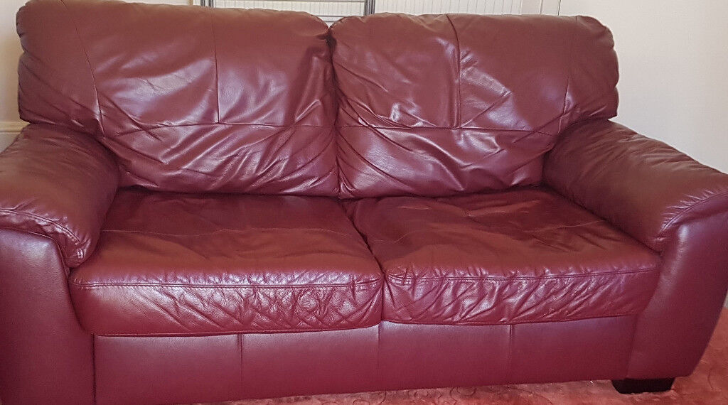 Groovy Burgundy Wine Milano Leather Large 2 Seater Sofa Bed For Sale X 2 Only 300 For Both Or 180 Each In Bournemouth Dorset Gumtree Gamerscity Chair Design For Home Gamerscityorg