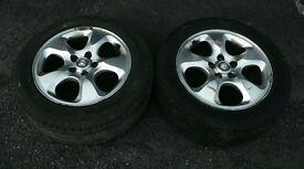 jaguar wheels (pair plus tyres)